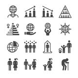 Populaci i mieszkana ikony royalty ilustracja