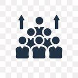 Populaci wektorowa ikona odizolowywająca na przejrzystym tle, Popul ilustracji