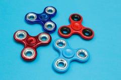 Populair friemel Spinnerstuk speelgoed Achtergrond voor een uitnodigingskaart of een gelukwens royalty-vrije stock foto's