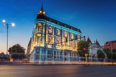 Populair Oriëntatiepunt in Varna, zeehotel royalty-vrije stock afbeeldingen