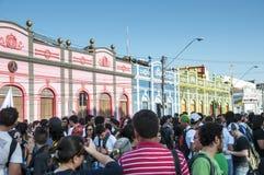 Populair protest op de dag van de Onafhankelijkheid van Brazilië Royalty-vrije Stock Foto's