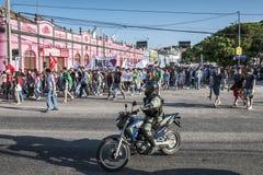 Populair protest op de dag van de Onafhankelijkheid van Brazilië Stock Foto's