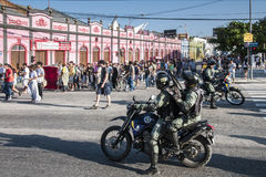 Populair protest op de dag van de Onafhankelijkheid van Brazilië Stock Afbeeldingen
