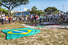 Populair protest op de dag van de Onafhankelijkheid van Brazilië Royalty-vrije Stock Foto