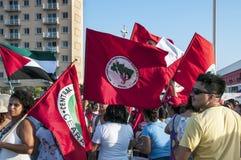 Populair protest op de dag van de Onafhankelijkheid van Brazilië Stock Afbeelding