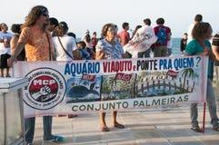 Populair protest op de dag van de Onafhankelijkheid van Brazilië Stock Fotografie