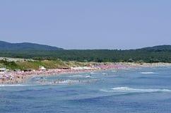 Populair Strand op de Zwarte Zee Stock Foto's