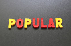 populaire Image stock