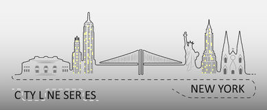 Populaire de Stadsarchitectuur van New York Royalty-vrije Stock Foto's