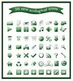 Populaire ecologische pictogrammen Stock Foto