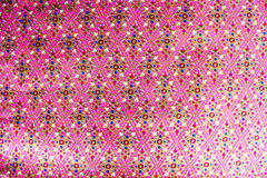 Populaire het patroonachtergrond van batiksarongen in traditioneel Thailand, royalty-vrije stock foto