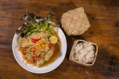 Populaire meest northest Thaise voedselreeks Royalty-vrije Stock Afbeeldingen