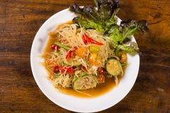 Populaire noordoostelijke Thaise voedselpapaja lalad Royalty-vrije Stock Afbeeldingen