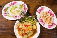 Populaire noordoostelijke Thaise voedselpapaja lalad Stock Afbeelding