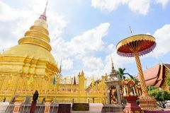 Populaire tempel in Lamphun, Thailand Stock Foto's