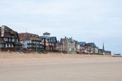 Populaire toeristische attractie Houlgate Normandië, Frankrijk Royalty-vrije Stock Fotografie
