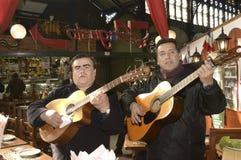 Populaire zangers in Santiago de Chile Stock Foto's