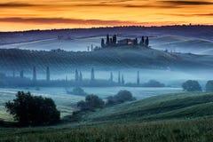 Populairste plaats in Toscanië Stock Afbeeldingen