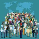 População de mundo Fotografia de Stock Royalty Free