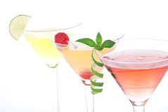Popular alcoholic cocktails composition Royalty Free Stock Photography