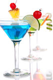 Popular alcoholic cocktails composition Royalty Free Stock Images