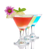 Popular alcoholic cocktails composition. Stock Photography
