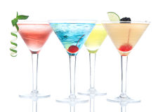 Popular alcoholic cocktails composition Stock Photos