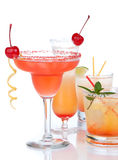 Popular alcoholic cocktails composition Stock Photo