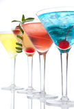 Popular alcoholic cocktails composition Royalty Free Stock Image