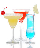 Popular alcoholic cocktails composition Royalty Free Stock Photo