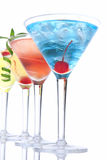 Popular alcoholic cocktails tropical Martin Royalty Free Stock Photography