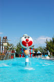 Popular aquapark at Turkish hotel Royalty Free Stock Photos