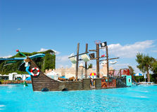 Popular aquapark at Turkish hotel Stock Image