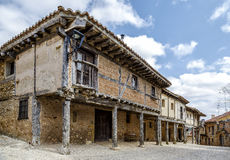 Popular architecture of Calatanazor Soria, Spain. Stroll through the streets of the village with houses of great typical flavor. It seems that we have moved Royalty Free Stock Images