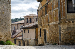 Popular architecture of Calatanazor Soria, Spain. Stroll through the streets of the village with houses of great typical flavor. It seems that we have moved Stock Photo