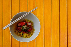 Popular asia dry noodles Stock Images