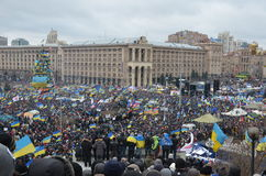 Popular assembly in the Independence Square of the Ukrainian capital Royalty Free Stock Photos