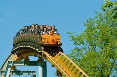 A popular attraction is the Russian roller coaster. Stock Images