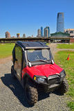 A popular ATV model made by Polaris of USA on Liberty State Park Royalty Free Stock Image