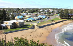 Popular Australian holiday tourist destination, Port Campbell. Popular holiday tourist destination, Port Campbell,  along the Great Ocean Road in Victoria Stock Photo
