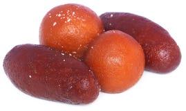 Popular Bangladeshi Sweetmeats Pantua and Kalojam Stock Photos