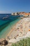 Popular Banje Beach in Dubrovnik Royalty Free Stock Photos