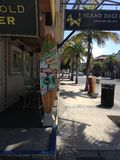Island Dogs Bar. Popular bar/eatery in historic Key stock images