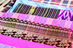 Popular batik sarong pattern background in Thailand, traditional Stock Image