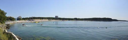 Popular beach at the Black Sea. Kiten, Bulgaria. Panorama Stock Photo