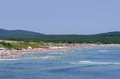 Popular Beach on the Black Sea Stock Photos