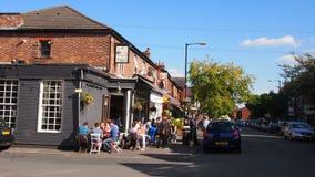 The popular Beech Road in Chorlton, Manchester England Royalty Free Stock Photos