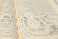 Popular Bible passage for St. Valentine's Day and wedding Royalty Free Stock Photos