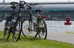 Popular bicycles in Amsterdam