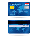 Popular blue premium extended business credit card  vect Stock Photography